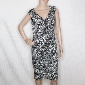 Jones New York B&W  abstract floral dress
